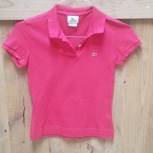 Lacoste polo pink shirt! Size XS.